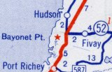 Fivay still appears on this 1956 map